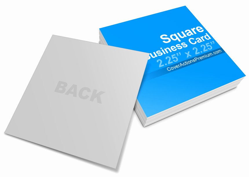 Square Business Card Template Inspirational Square Business Card Mock Ups