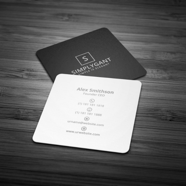 Square Business Card Template Lovely 17 Minimal Business Card Designs & Templates Psd Ai