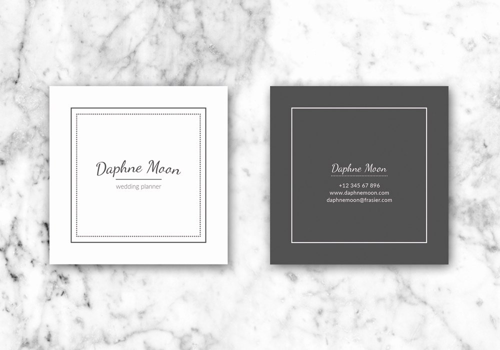 Square Business Card Template Lovely Business Cards Business Card Template Printable Business