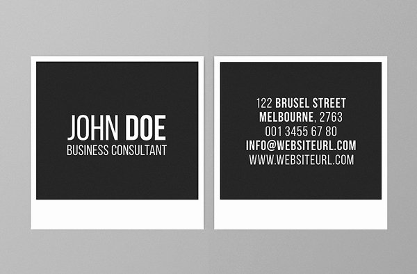 Square Business Card Template Lovely Mini Square Business Card Psd Templates Design