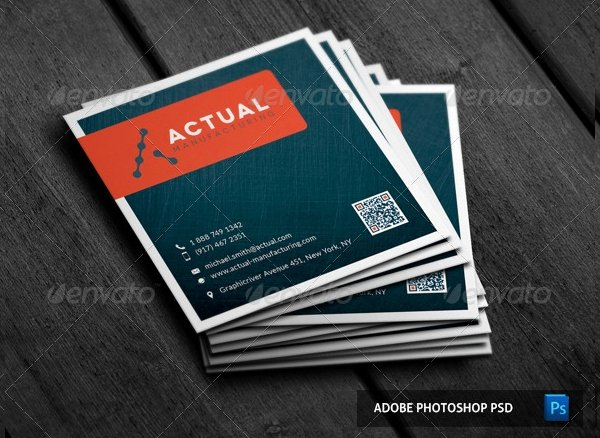 Square Business Card Template New 22 Square Business Cards Free Psd Eps Illustrator