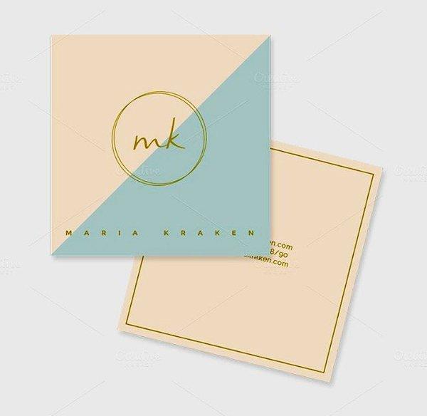 Square Business Card Template New Mini Square Business Card Psd Templates Design