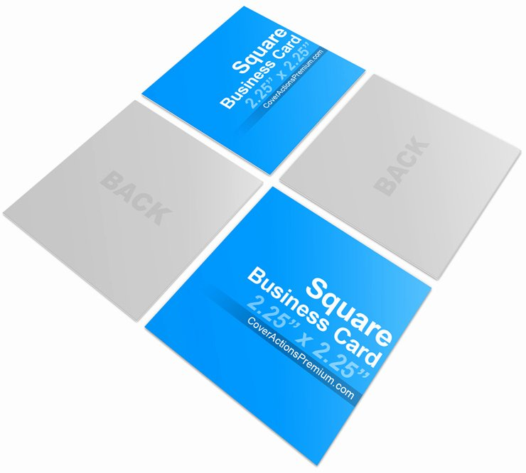 Square Business Card Template New Square Business Card Mock Ups