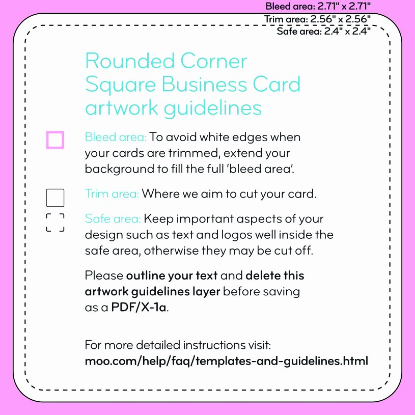 Square Business Card Template New Square Business Cards Templates – Moo