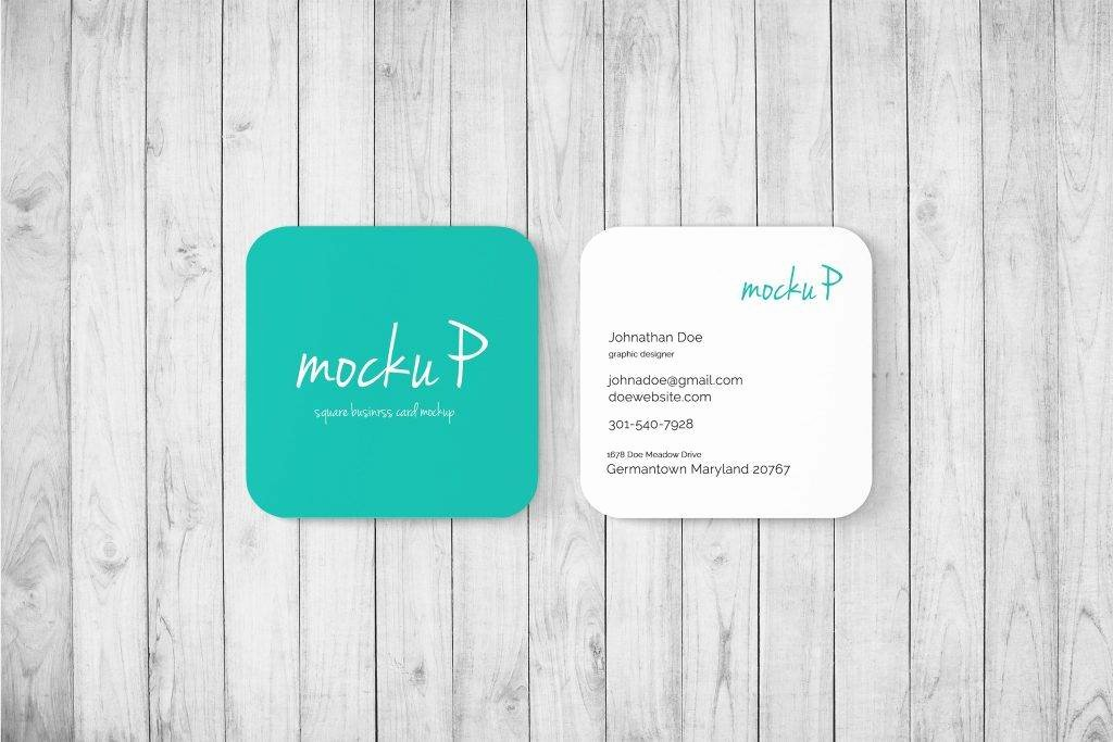 Square Business Card Template Unique 20 Card Designs and Examples Psd Ai