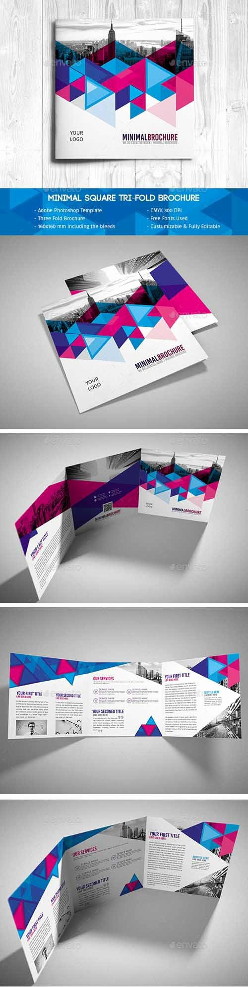 Square Trifold Brochure Template Awesome Minimal Square Tri Fold Brochure Psd Template Psd