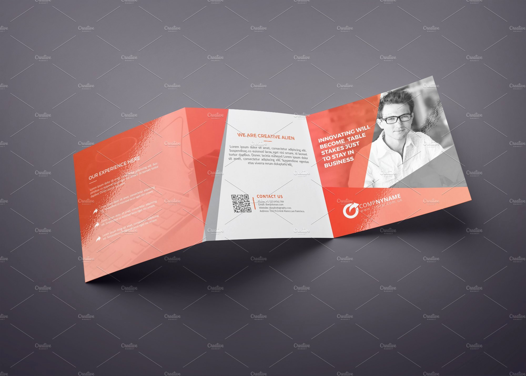 Square Trifold Brochure Template Awesome Square Tri Fold Brochure Multipurpos Brochure Templates