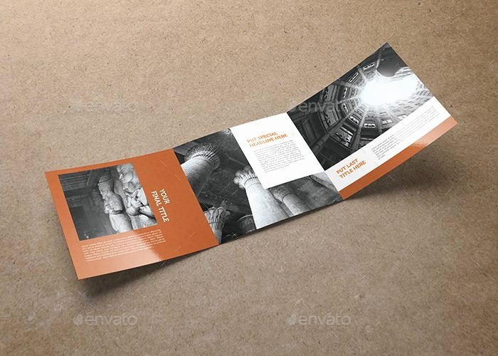 Square Trifold Brochure Template Awesome Tri Fold Square Brochure Template