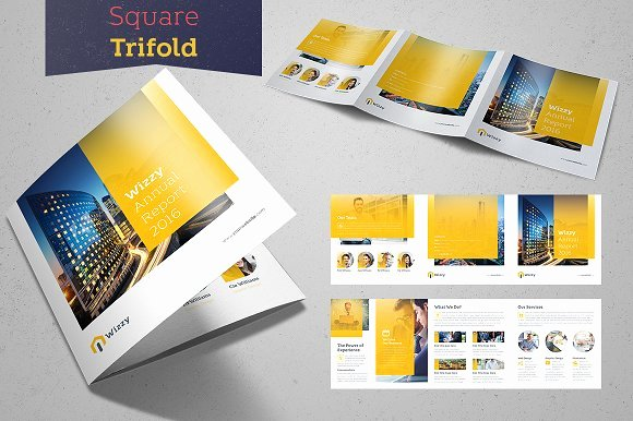 Square Trifold Brochure Template Beautiful Wizzy Square Trifold Brochure Templates On Creative Market