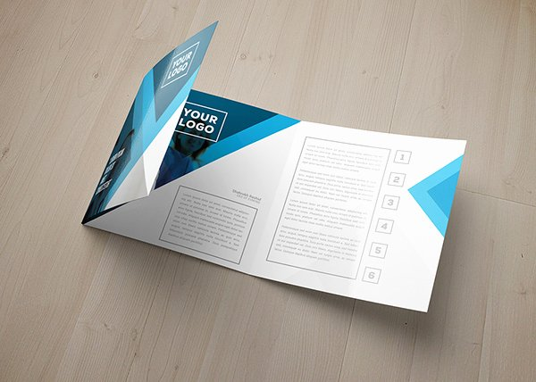 Square Trifold Brochure Template Best Of Eagas Tri Fold Square Brochure Template On Behance