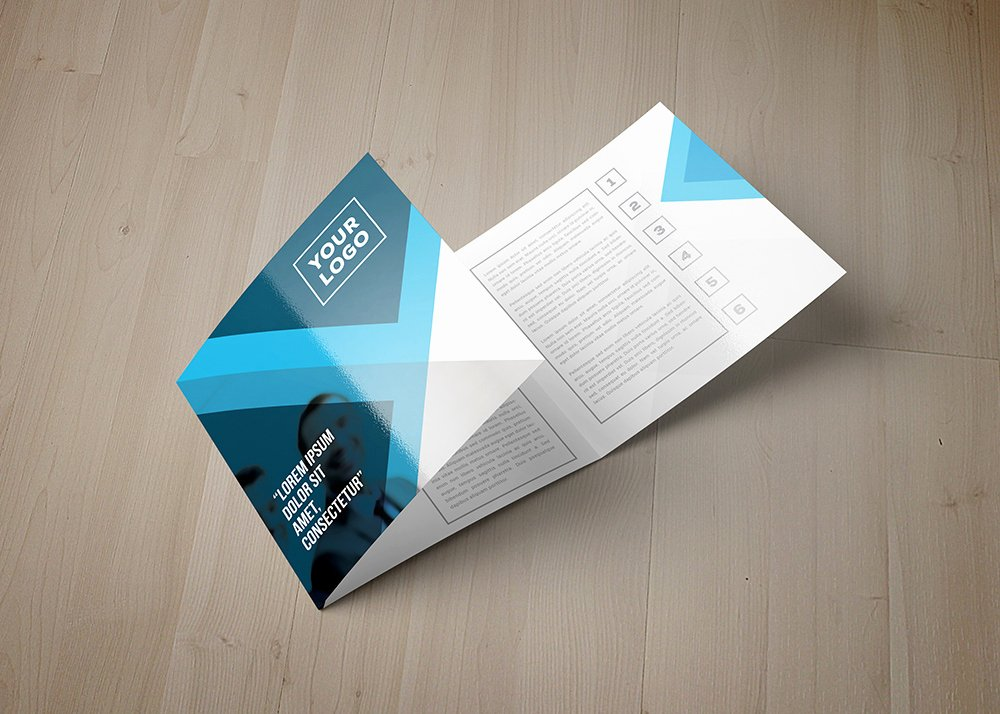 Square Trifold Brochure Template Elegant Eagas Tri Fold Square Brochure Template On Behance