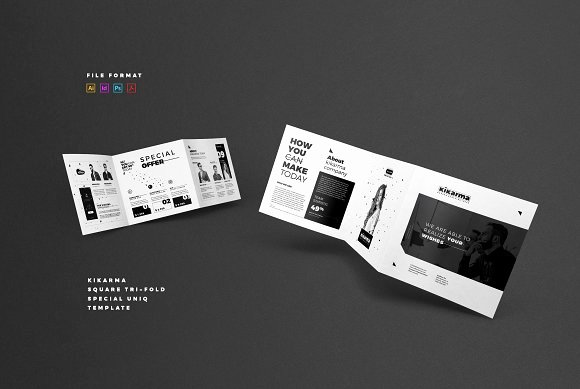 Square Trifold Brochure Template Fresh Square Tri Fold Brochure Brochure Templates On Creative