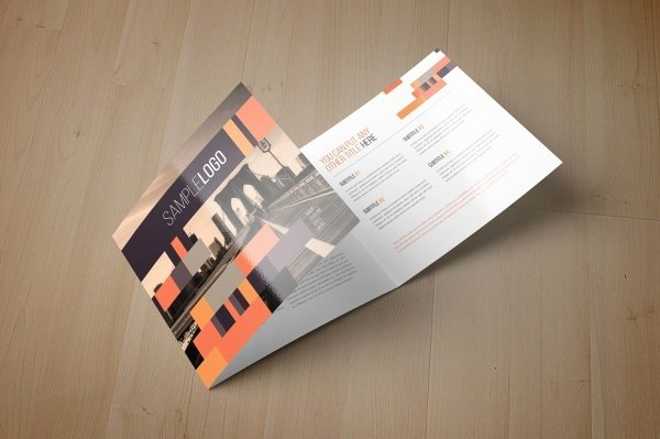 Square Trifold Brochure Template Inspirational 21 Square Brochure Mockups