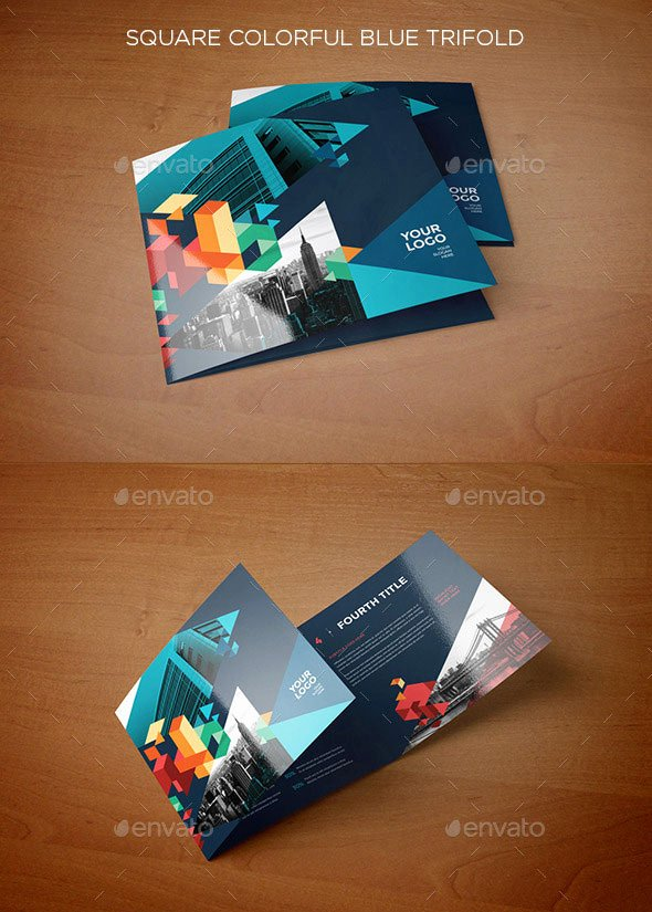 Square Trifold Brochure Template Lovely 21 Striking Square Brochure Template Designs