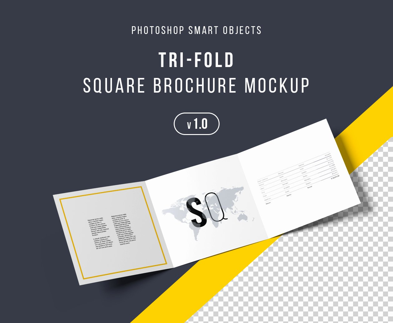 Square Trifold Brochure Template Lovely Square Tri Fold Brochure Mockup