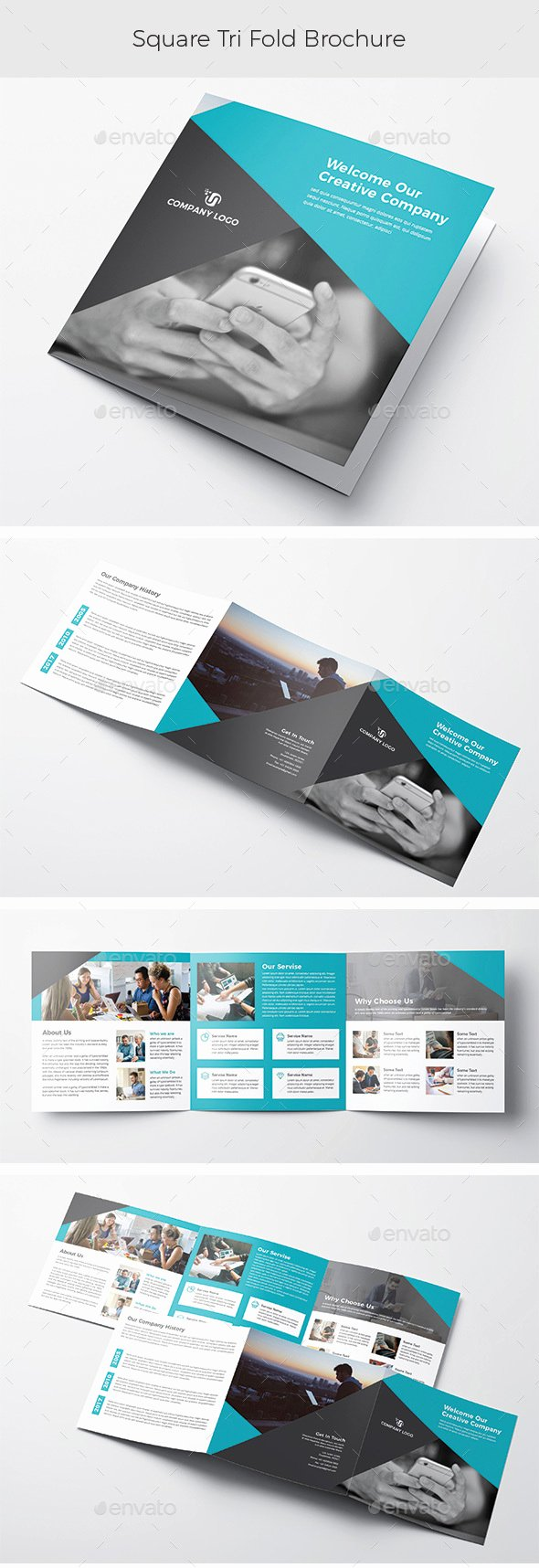 Square Trifold Brochure Template Luxury Square Trifold Brochure by Graphicstar10