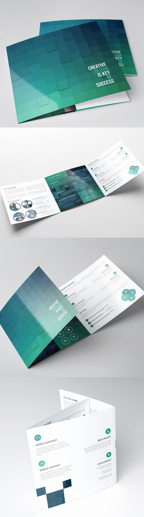 Square Trifold Brochure Template Unique 45 Fantastic Brochure Templates to Impress Your Clients