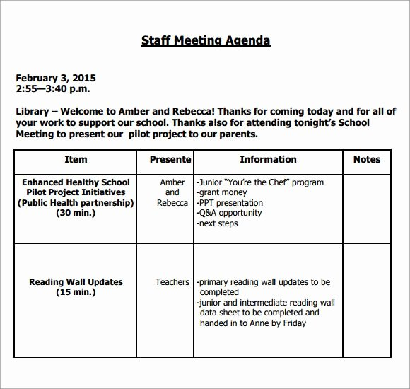 Staff Meeting Agenda Template Awesome Image Result for Teacher Staff Meeting Agenda Template