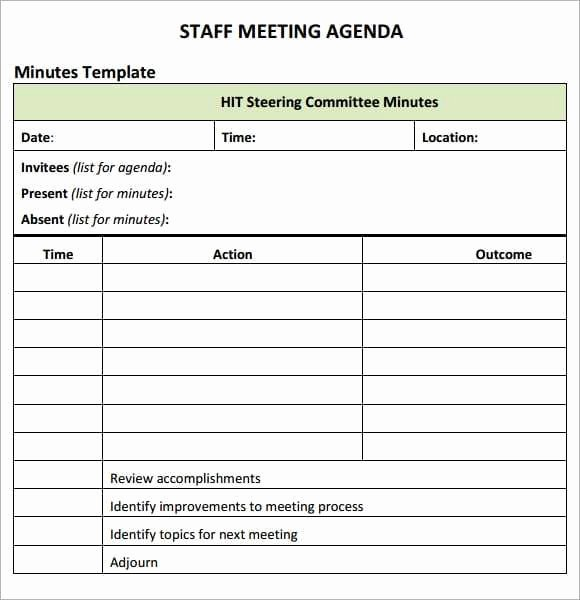 Staff Meeting Agenda Template Elegant 20 Meeting Agenda Templates Word Excel Pdf formats