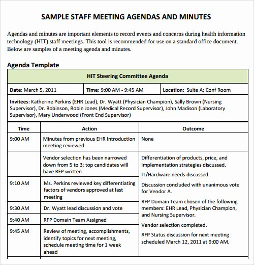 Staff Meeting Agenda Template New Agenda Template 29 Download Free Documents In Pdf