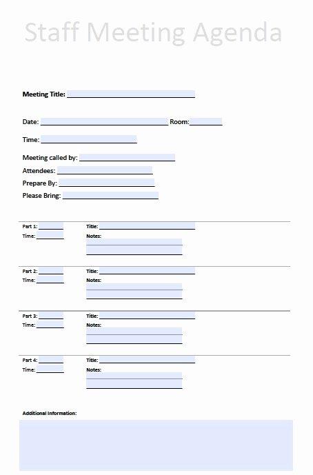 Staff Meeting Agenda Template Unique Printable Template Staff Meeting Minutes to