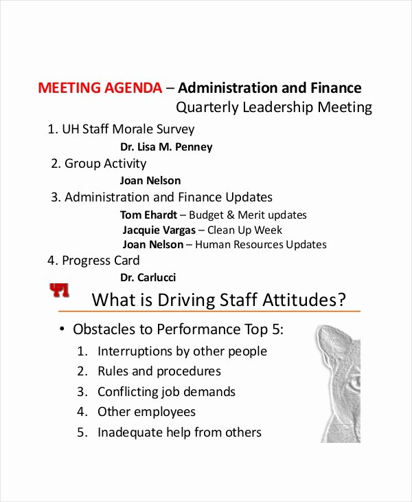 Staff Meetings Agenda Template Awesome 9 Staff Meeting Agenda Templates – Free Sample Example