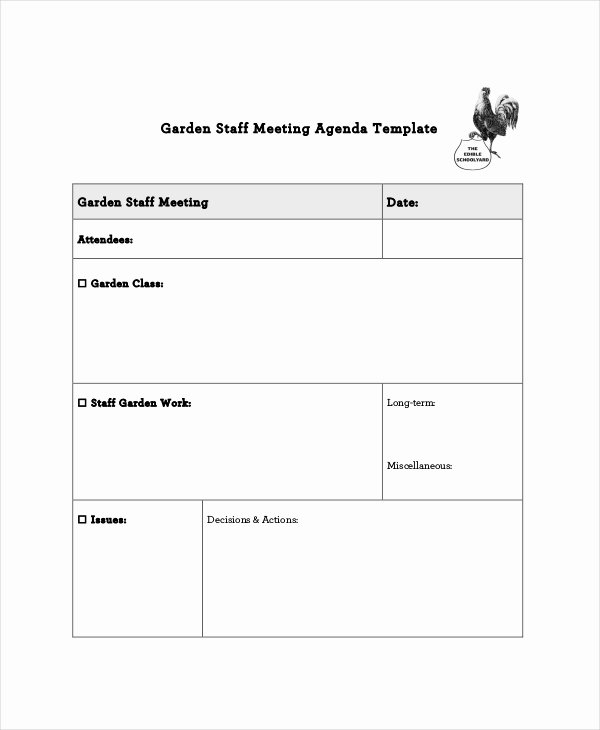Staff Meetings Agenda Template Elegant Staff Meeting Agenda Template – 10 Free Word Pdf