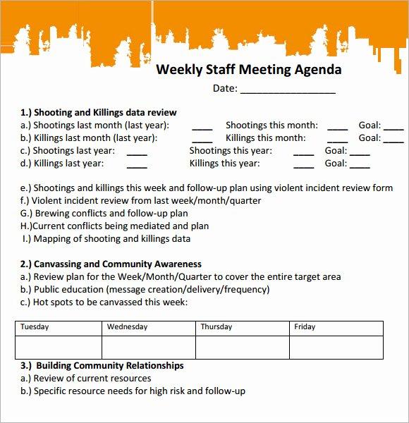 Staff Meetings Agenda Template Inspirational 5 Staff Meeting Agenda Samples