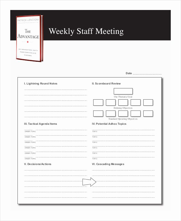 Staff Meetings Agenda Template New 59 Meeting Agenda Examples & Samples Doc Pdf