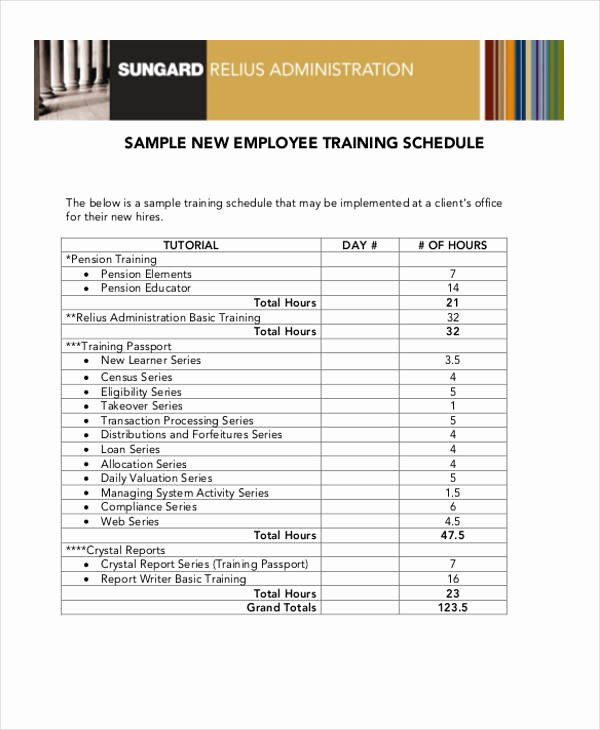 Staff Training Plan Template Awesome 13 Employee Training Schedule Template Free Sample