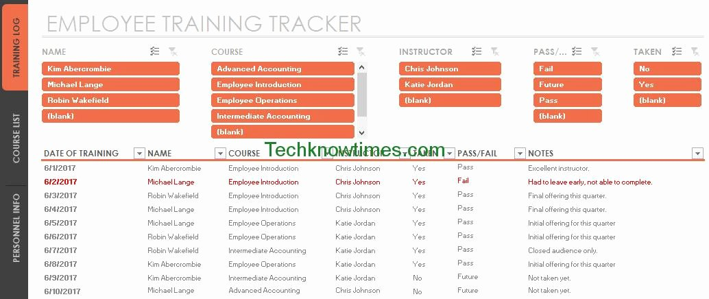 Staff Training Plan Template Lovely Employee Training Tracker Template Excel
