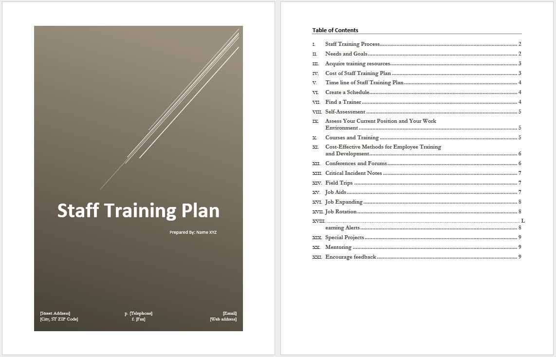 Staff Training Plan Template Luxury Staff Training Plan Template – Microsoft Word Templates