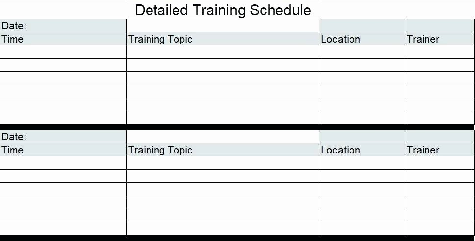 Staff Training Plan Template Luxury Template Training Schedule Template In Excel