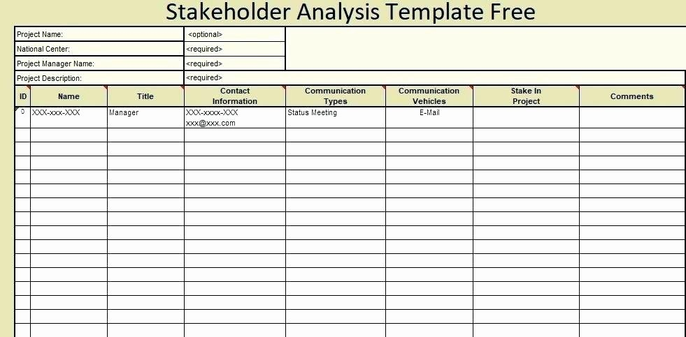 Stakeholder Analysis Template Excel Awesome Stakeholder Analysis Template Excel Free Needs – Picks