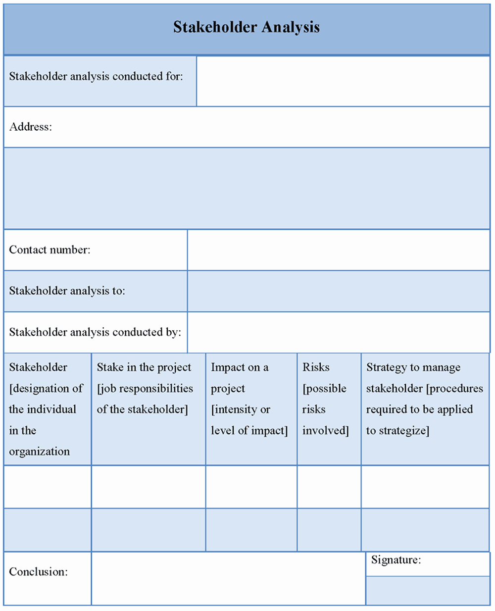 Stakeholder Analysis Template Excel Best Of Analysis Stakeholder Analysis Template