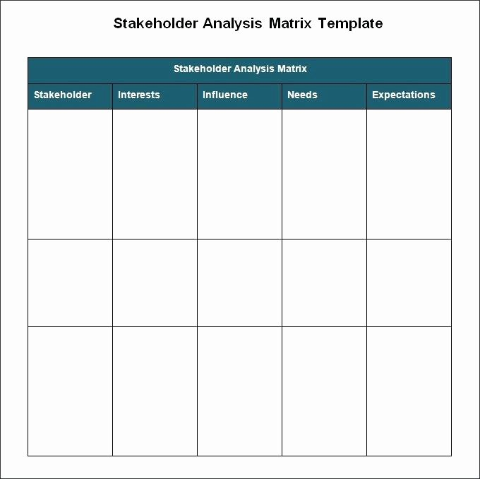 Stakeholder Analysis Template Excel Inspirational Project Stakeholder Analysis Template Matrix College