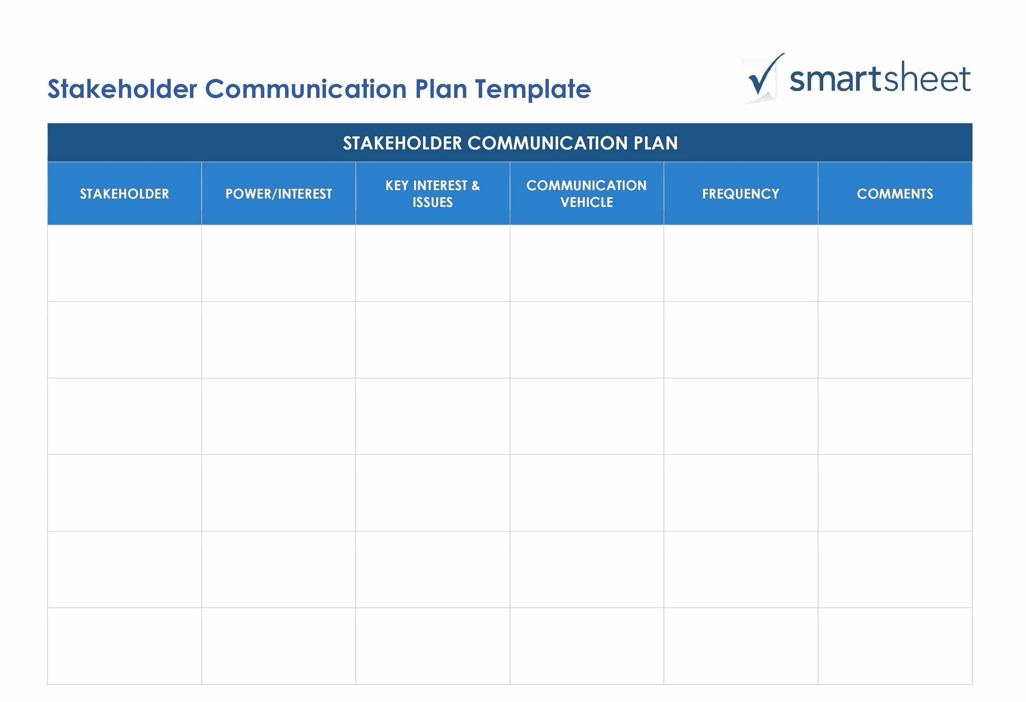 Stakeholder Analysis Template Excel Luxury Project Management Stakeholder Register Template
