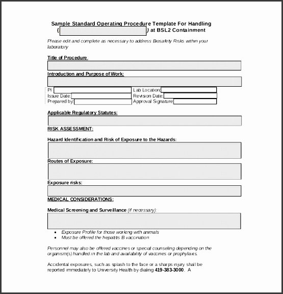 Standard Operating Procedures Template Free Best Of 6 Standard Operating Procedure sop Templates