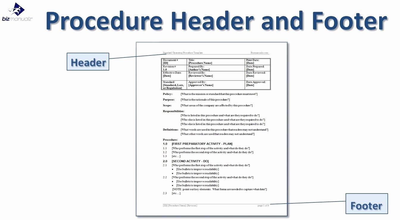 Standard Operating Procedures Template Free Best Of Standard Operating Procedure Template Word Beepmunk