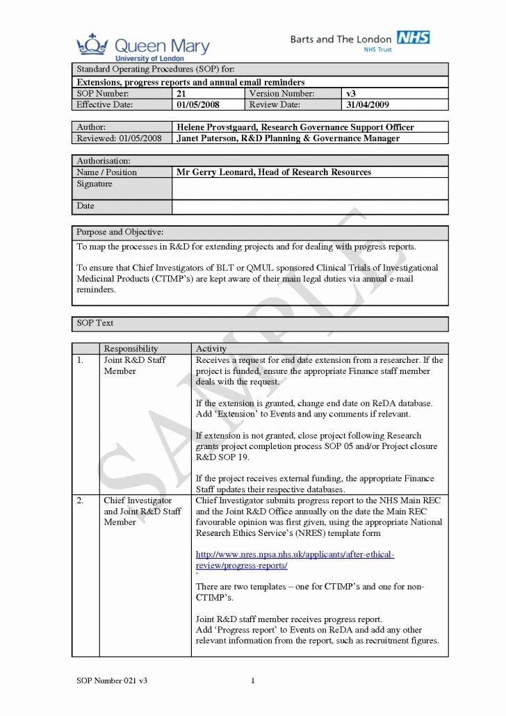 Standard Operating Procedures Template Free Luxury Free sop Template Image – Procedures Template Free Good