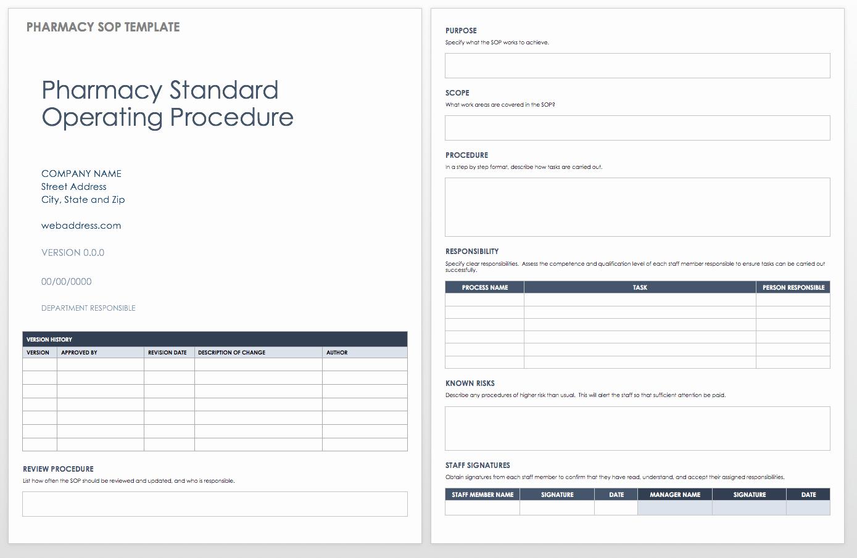 Standard Operating Procedures Template Word Awesome Standard Operating Procedures Templates