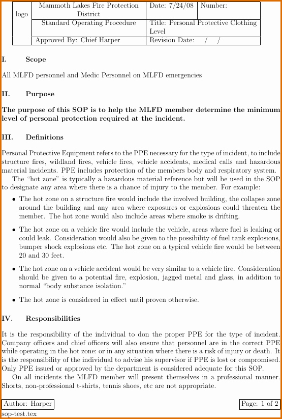 Standard Operating Procedures Template Word New 11 Standard Operating Procedure Template Word