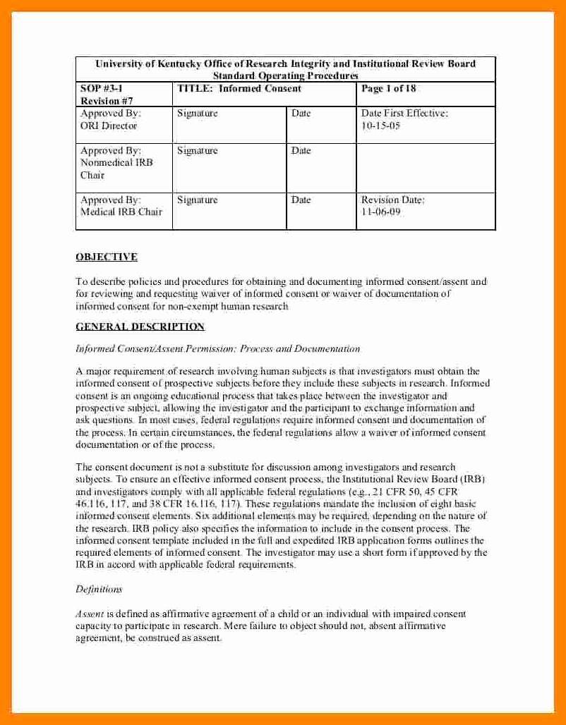 Standard Operating Procedures Template Word Unique 3 4 Standard Operation Procedure format