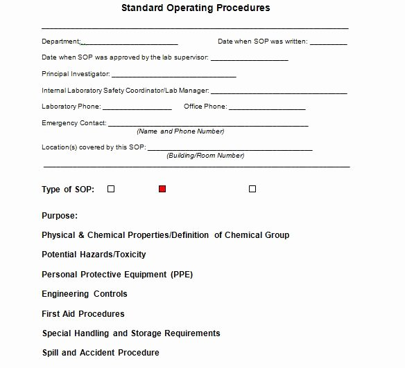 Standard Operation Procedure Template Beautiful 37 Best Standard Operating Procedure sop Templates