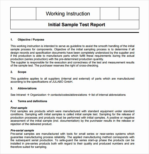 Standard Work Instructions Template New 8 Sample Instructions