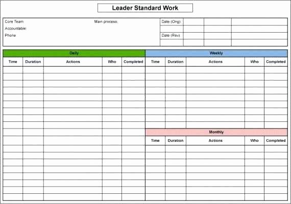 Standard Work Instructions Template New Standard Work Instructions Excel Template Lovely Standard