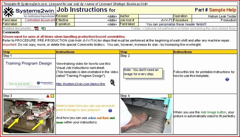 Standard Work Instructions Template New Standard Work Template Beepmunk