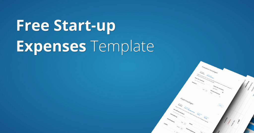Start Up Expenses Template Unique Start Up Expenses Template