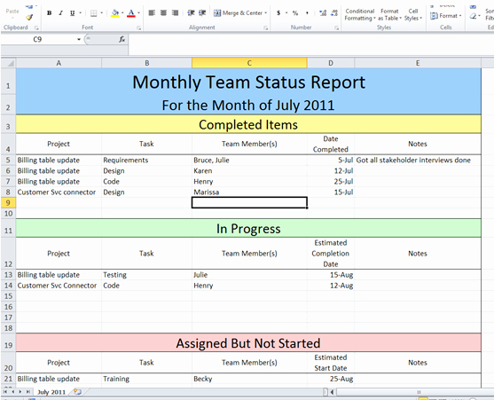Status Report Template Excel Beautiful Get Project Status Report Template Excel