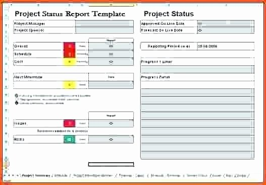 Status Report Template Excel Fresh Sample Status Report Template Excel Templates for Project